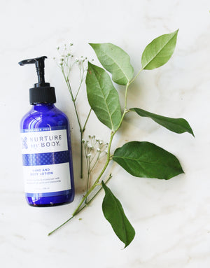 Fragrance Free Hand and Body Lotion by Nurture My Body
