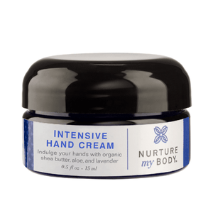 Intensive hand Cream by Nurture My Body. Indulge your hands with organic shea butter, aloe and lavender