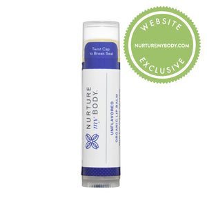 100% USDA Certified Organic Unflavored Lip Balm