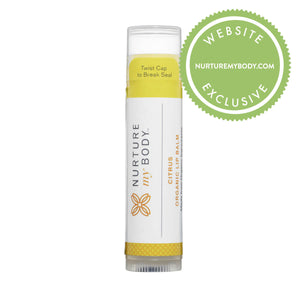 100% USDA Certified Organic Citrus Lip Balm