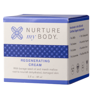 Regenerating Cream with borage seed oil and marsh mallow root to nourish dehydrated damaged skin
