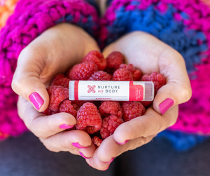 100% USDA Certified Organic Raspberry Lip Balm