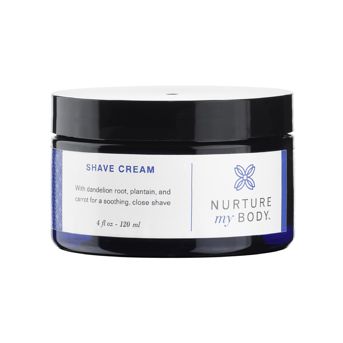 All-natural sulfate free non-foaming shave cream by Nurture My Body