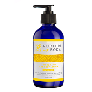 Citrus Hand & Body Lotion Sulfate Free No Synthetic Fragrances by Nurture My Body