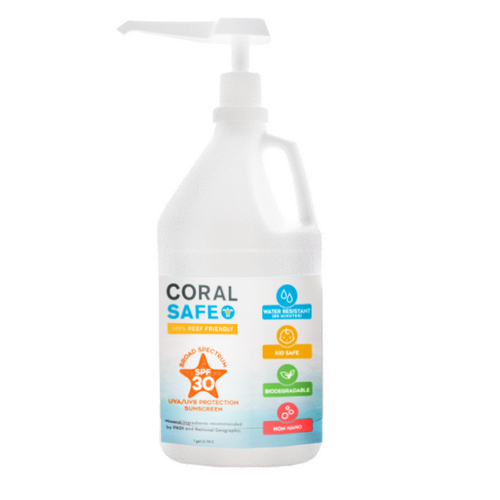 Coral Safe SPF 30 Mineral Sunscreen Gallon w/ Pump Dispenser