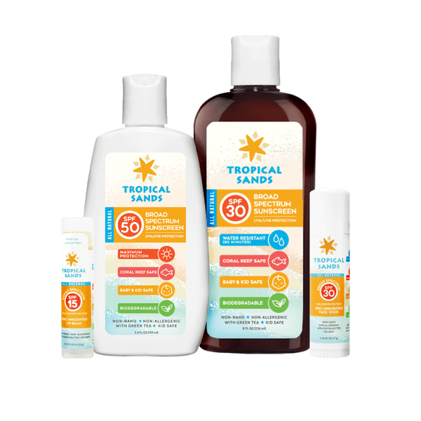 Tropical Sands Bidoegradable Suncare Bundle - Mexitan Biodegradable Sunscreen