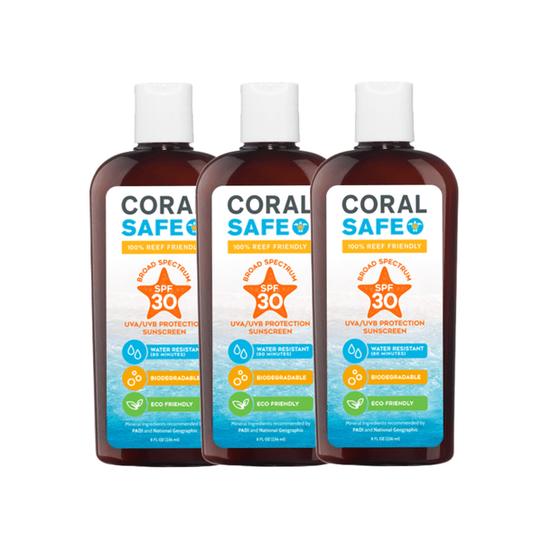 Coral Safe® SPF 30 3 Pack - Mexitan Biodegradable Sunscreen