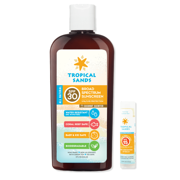 Tropical Sands® Full Coverage Pack Coconut - Mexitan Biodegradable Sunscreen