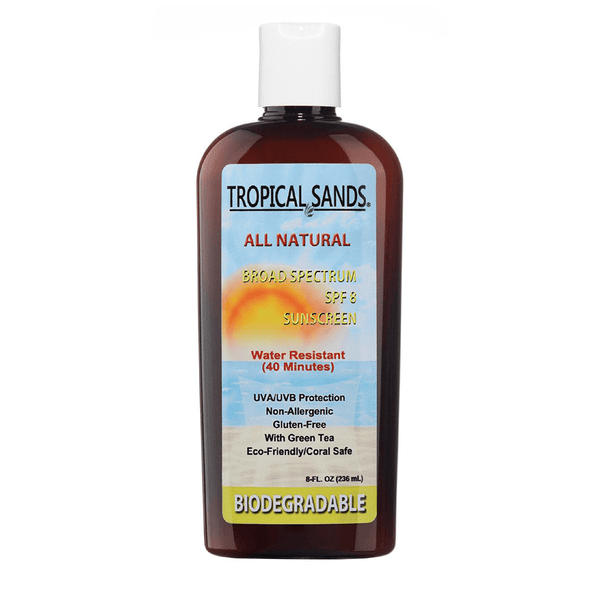 Tropical Sands® SPF 8 Unscented Biodegradable Sunscreen