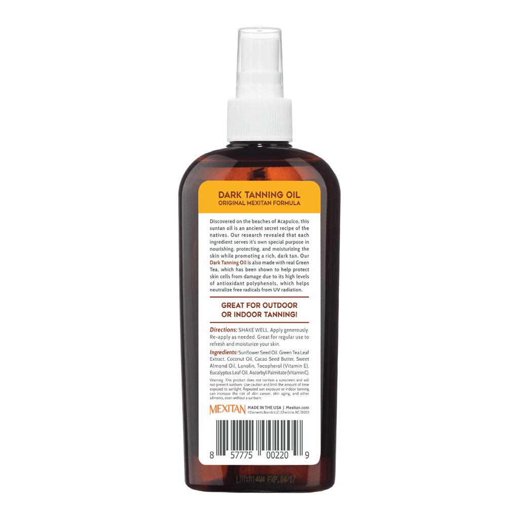 Tropical Sands® Dark Tanning Oil - Mexitan Biodegradable Sunscreen