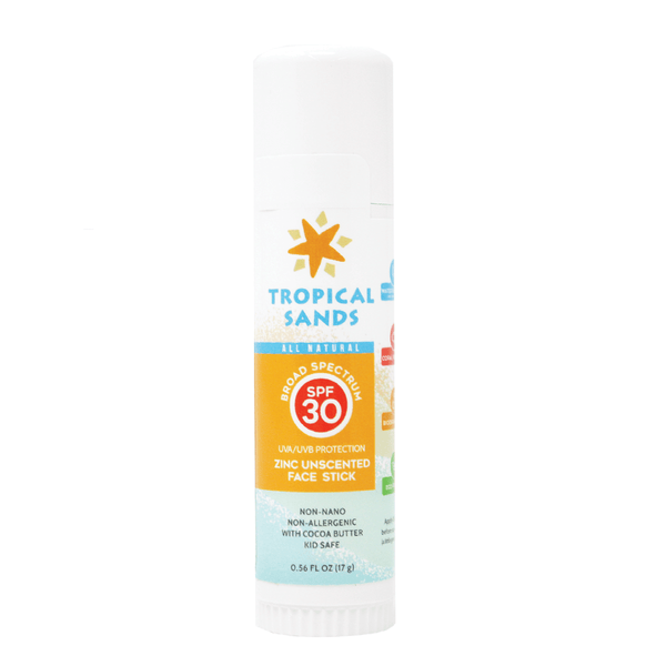 Tropical Sands® SPF 30 Mineral Sunscreen Face Stick - Mexitan Biodegradable Sunscreen