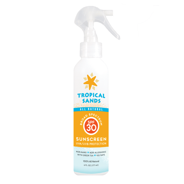Tropical Sands SPF 30 Spray Sunscreen Lotion - Mexitan Biodegradable Sunscreen