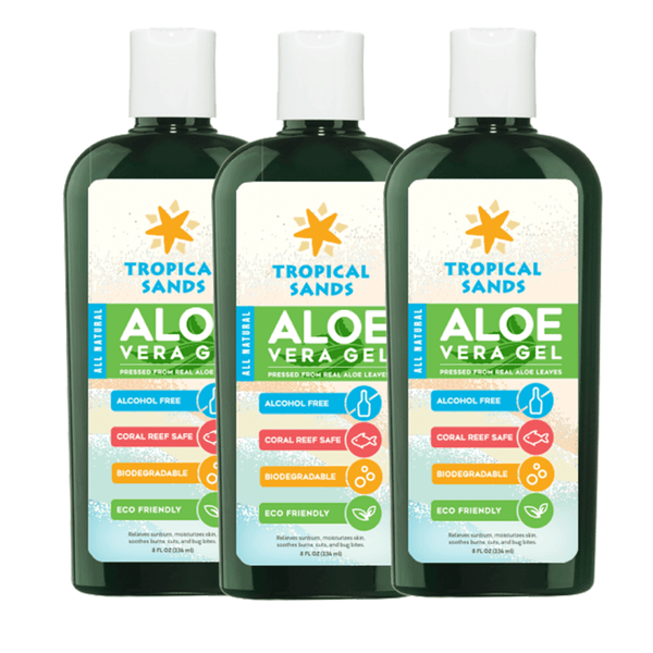 Tropical Sands Aloe Vera 3 Pack - Mexitan Biodegradable Sunscreen