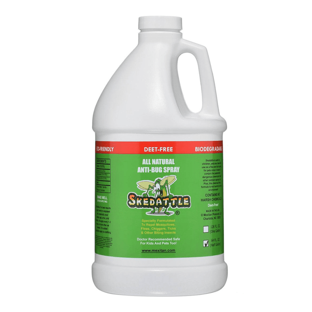 Skedattle® Anti-Bug Spray & Mosquito Repellent - Half Gallon - Mexitan Biodegradable Sunscreen