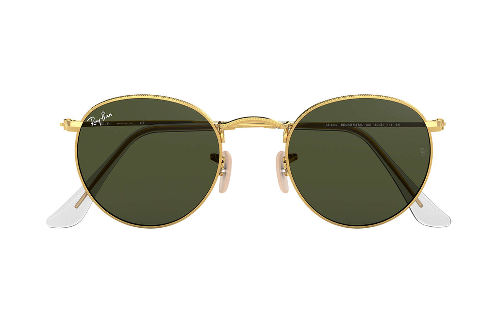 RAY-BAN : Round Metal, Gold/Green Classic G-15
