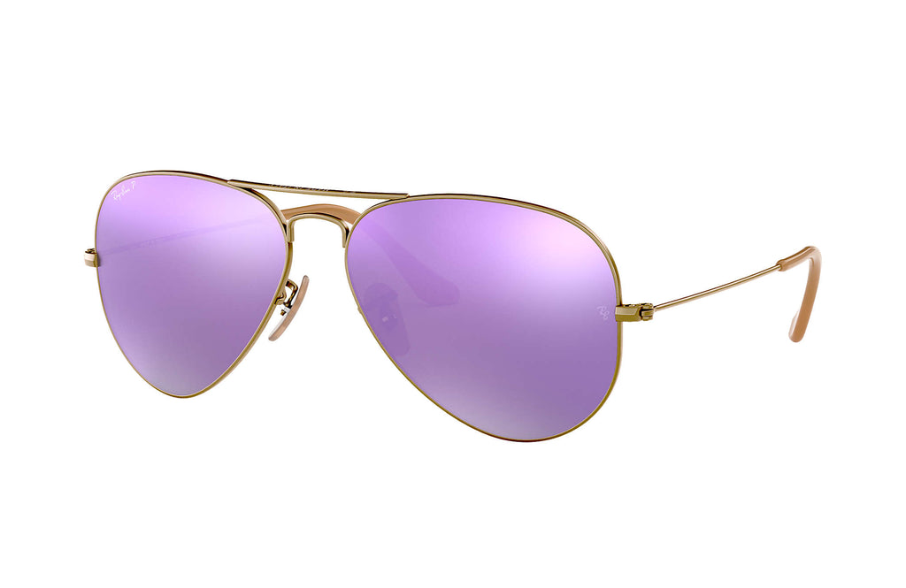 RAY-BAN : Aviator Flash Lenses, Bronze-Cuivre/Lilas Flash