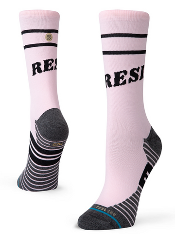 W Stance Run: LAFL 'Fool Hardy' Crew Sock