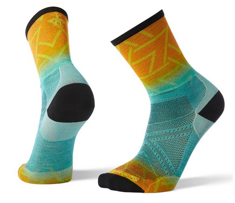 Smartwool PhD Run Ultra Light Print Crew Sock