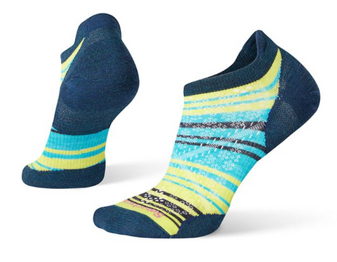 W Smartwool PhD Run Ultra Light Striped Micro Sock