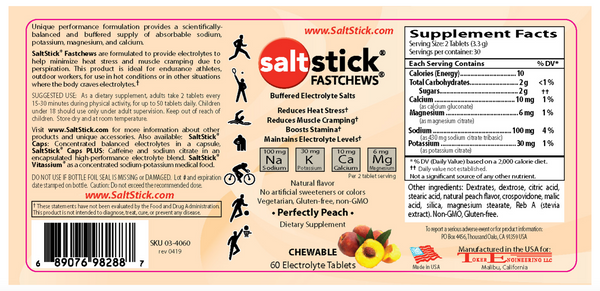 Saltstick Fastchews Bottle - Peach