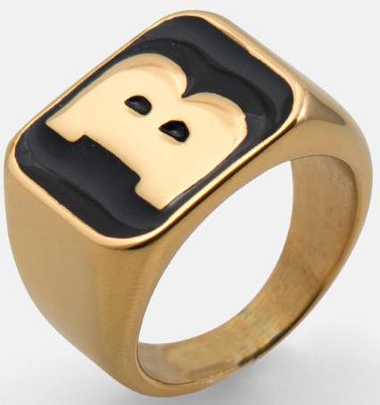 "RINGS / BAKER / CAPITAL ""B"" - GOLD/BLACK"