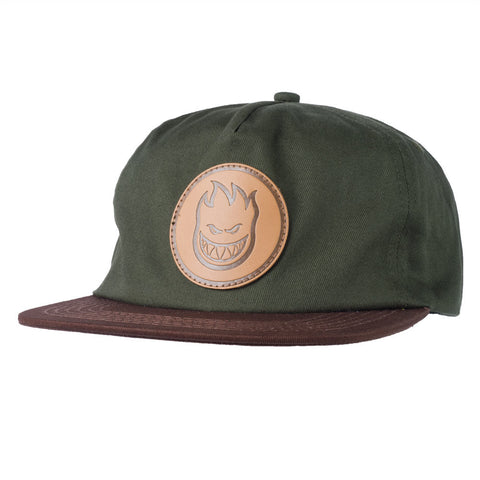 HATS / SPITFIRE / BIGHEAD CIRCLE PATCH - GREEN/BROWN