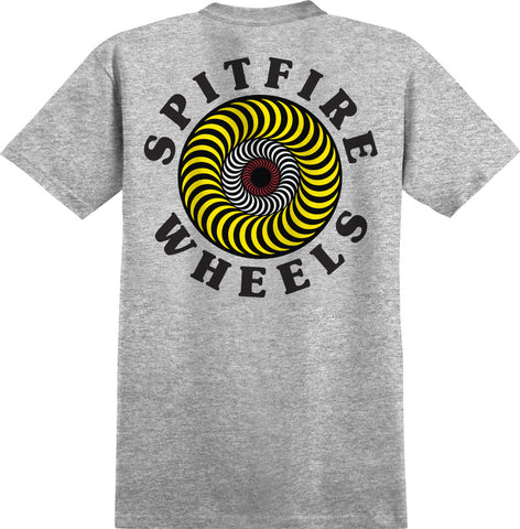 T-SHIRTS / SPITFIRE / CLASSIC FILL - ATHLETIC HEATHER/YELLOW/BLACK