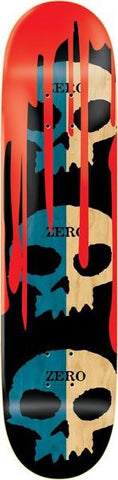 DECKS / ZERO / 3 SKULLS WITH BLOOD - NATURAL SPLIT VENEER - 8.125""