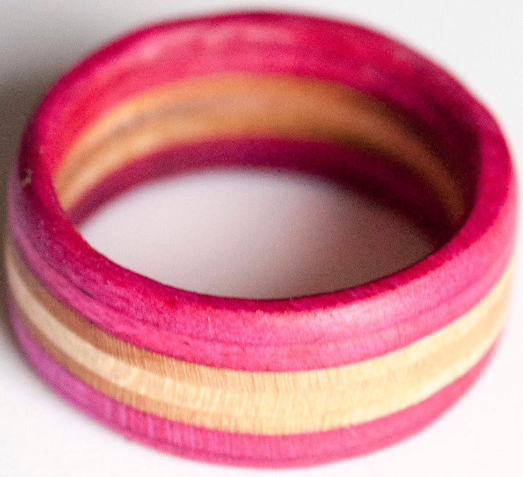RINGS / RECYCLED RING / 8.5 - PINK/NATURAL