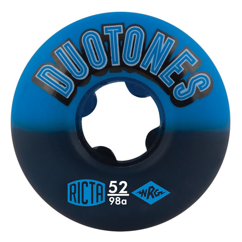 WHEELS / RICTA / DUO TONES - BLUE - BLACK - 52MM - (set of four)