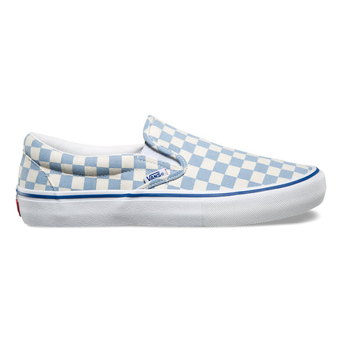 FOOTWEAR / VANS / SLIP-ON PRO - CHECKERBOARD MARSHMALLOW/BLUE FOG