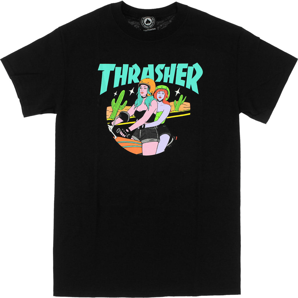 T-SHIRTS / THRASHER / BABES - BLACK