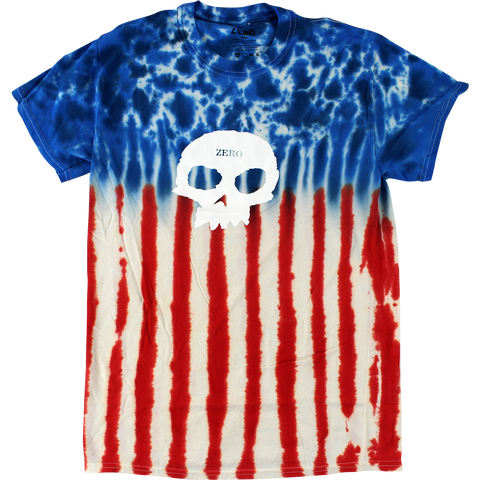 T-SHIRTS / ZERO / SINGLE SKULL - TIE DYE (AMERICANA)