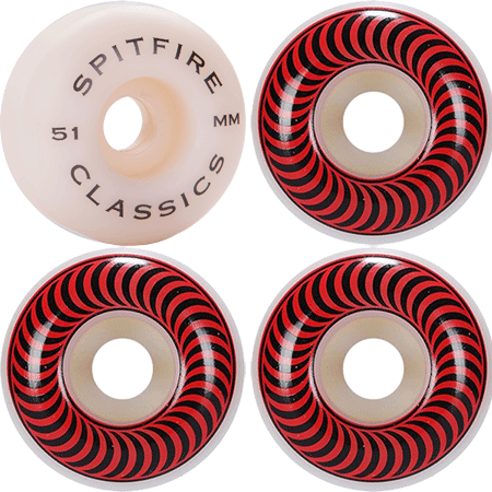 WHEELS / SPITFIRE / CLASSICS - 51MM - (set of four)