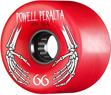 WHEELS / POWELL PERALTA / ALL TERRAIN - RED - 78A - 69MM - (set of four)