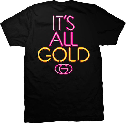 T-SHIRTS / GOLD / ALL GOLD - BLACK