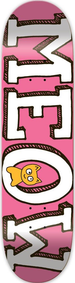 DECKS / MEOW / TEAM LOGO - PINK - 7.75