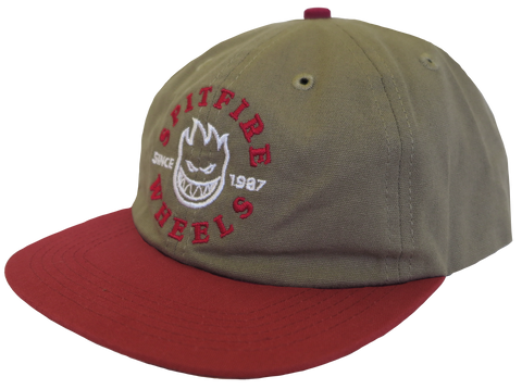 HATS / SPITFIRE / BIGHEAD UNSTRUCTURED - KHAKI/RED