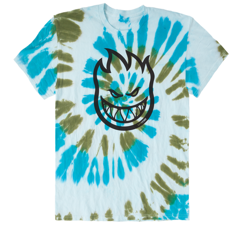 T-SHIRTS / SPITFIRE / BIGHEAD TIE DYE - TURQUOISE/GREEN