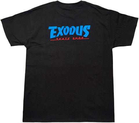 T-SHIRTS / EXODUS / THRASHIN' - BLACK/BLUE/RED