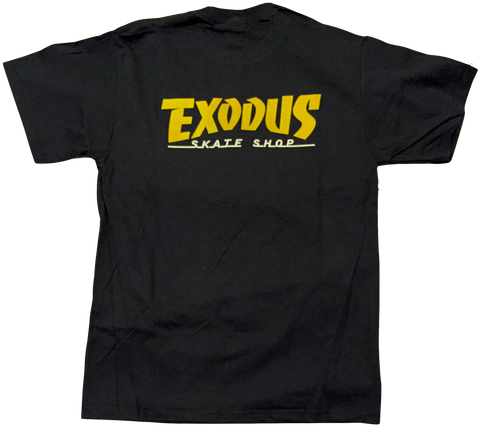 T-SHIRTS / EXODUS / THRASHIN' - BLACK/METALLIC GOLD/WHITE