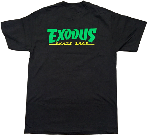 T-SHIRTS / EXODUS / THRASHIN' - BLACK/GREEN/YELLOW