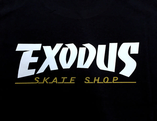 T-SHIRTS / EXODUS / THRASHIN' - BLACK/WHITE/METALLIC GOLD