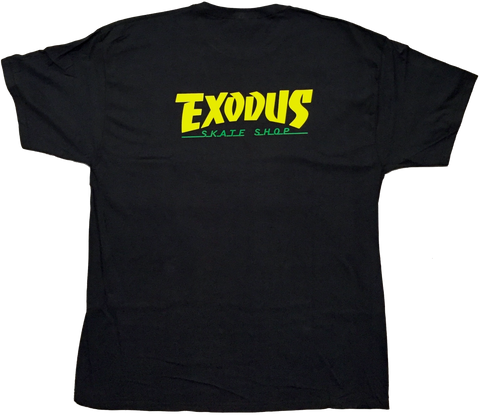 T-SHIRTS / EXODUS / THRASHIN' - BLACK/YELLOW/GREEN