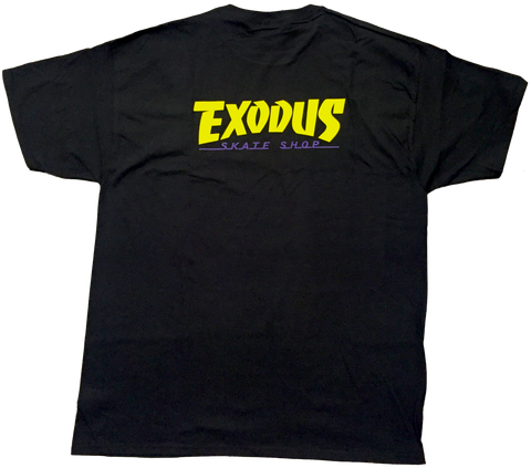 T-SHIRTS / EXODUS / THRASHIN' - BLACK/YELLOW/PURPLE