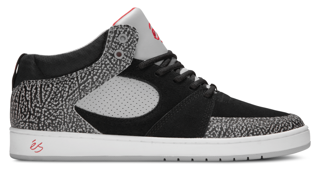 FOOTWEAR / éS / ACCEL SLIM MID - BLACK/GREY