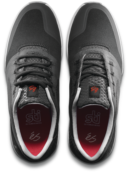 FOOTWEAR / éS / SESLA - BLACK/GREY/RED