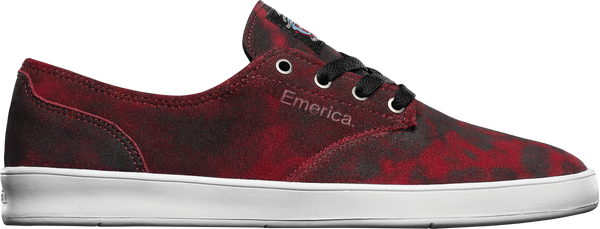 FOOTWEAR / EMERICA / THE ROMERO LACED - BLACK/RED (TOY MACHINE)