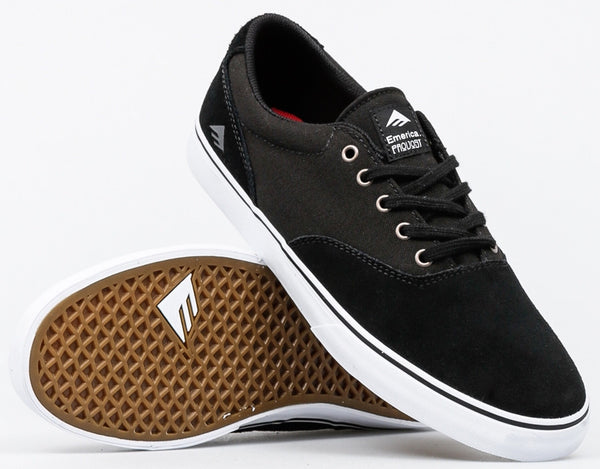 FOOTWEAR / EMERICA / PROVOST SLIM VULC - BLACK/WHITE