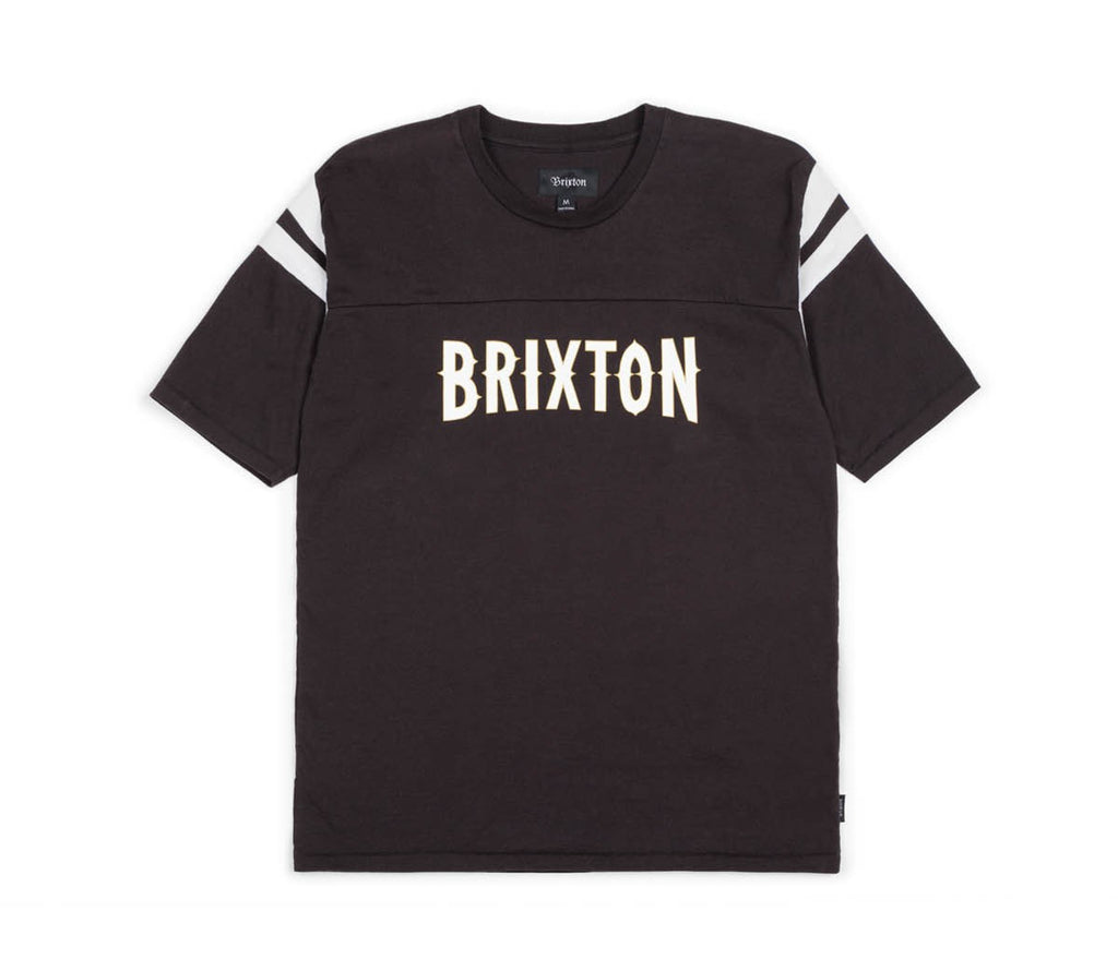 T-SHIRTS / BRIXTON / BENSON KNIT - BLACK/WHITE